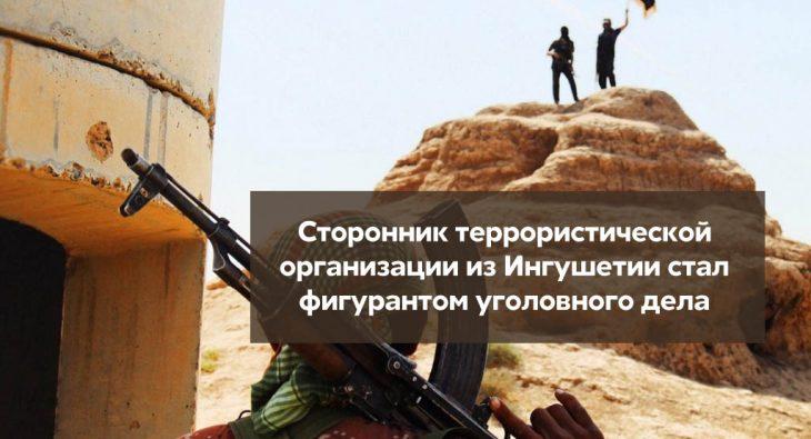 Сторонник террористической организации стал фигурантом уголовного дела
